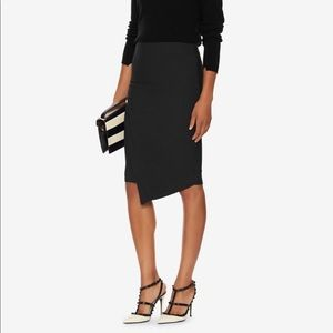 Elizabeth & James Asymmetrical Black Skirt